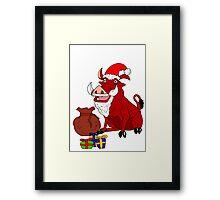 Pumba Christmas 2011 Framed Print