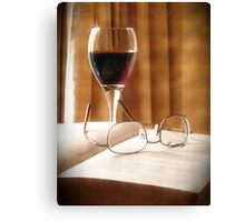 A Book & Glass of Wine Canvas Print