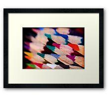 Colour Pencil texture Framed Print