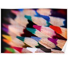 Colour Pencil texture Poster