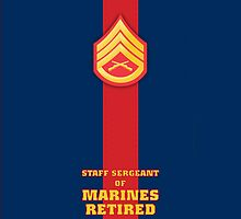 USMC E6 SSgt Retired Blood Stripe by Sinubis