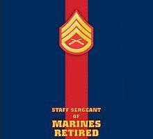 USMC E6 SSgt Retired Blood Stripe by Sinubis