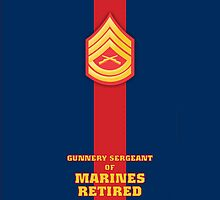 USMC E7 GySgt Retired Blood Stripe by Sinubis