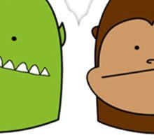 Monster & Monkey Sticker