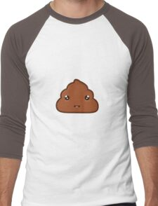 Kawaii Poo Men's Baseball ¾ T-Shirt