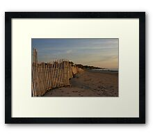 snowfence along silver beach Framed Print