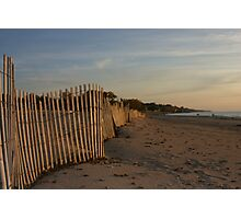 snowfence along silver beach Photographic Print