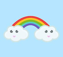 Kawaii clouds and rainbow by NirPerel