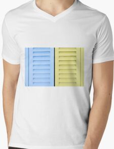 Colorful shutters Mens V-Neck T-Shirt