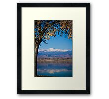 Reflections of Longs Peak Vertical Image Framed Print