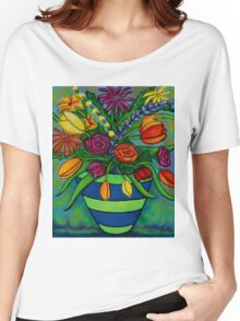 Funky Town Bouquet Women's Relaxed Fit T-Shirt