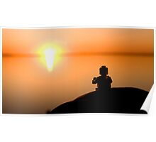 Sunset Cuppa Poster