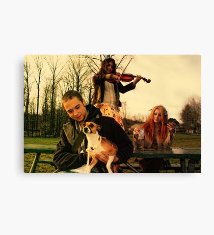 The Family's All Here Canvas Print