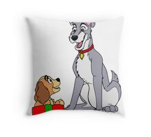 Tramp And Danielle Christmas 2011 Throw Pillow