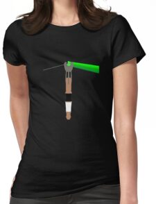 The Dark Side of Gallifrey Womens Fitted T-Shirt