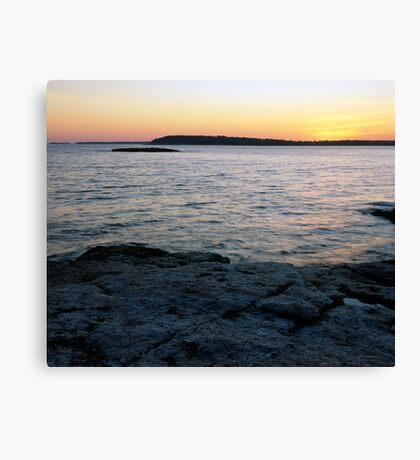 Ocean Point Sunset Canvas Print