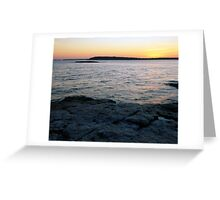 Ocean Point Sunset Greeting Card