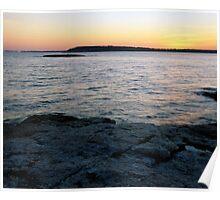 Ocean Point Sunset Poster