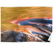 Water in Motion...With a Dash of Autumn Poster