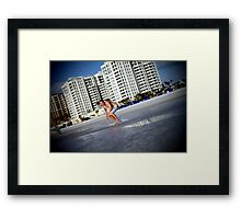 surfin the clearwater Framed Print