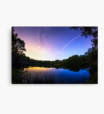 Blue hour Milky Way Canvas Print