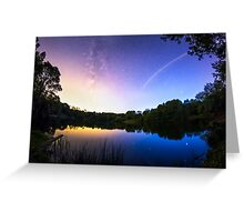 Blue hour Milky Way Greeting Card