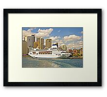 Pearl's in Port Framed Print