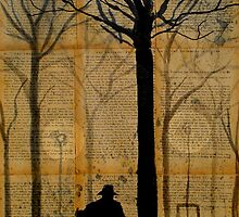 figure in a park by Loui  Jover