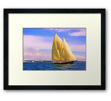 Sailing The Sound Framed Print