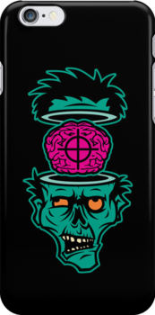Shoot 'em in da Head Bro (Iphonecase)  by Bamboota