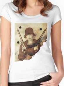 Louise Brooks  and her guns Women's Fitted Scoop T-Shirt