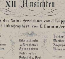 Johannes Läpple Album Von Heilbronn Xii Ansichten Nach Der Natur Gezeichnet Von J Und Lithographiert Von E Emminger 1850 1861 Sticker