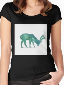Prongs Watercolour Women's Fitted Scoop T-Shirt
