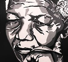 Madiba Deep in Thought by SebastianART101