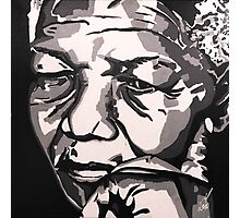 Madiba Deep in Thought Photographic Print