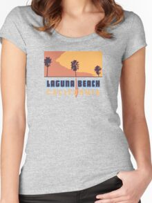 Laguna Beach - California. Women's Fitted Scoop T-Shirt
