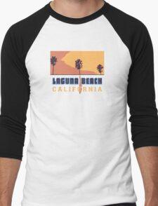 Laguna Beach - California. Men's Baseball ¾ T-Shirt
