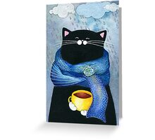 Rainy Day Coffee  Greeting Card