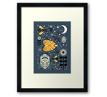 Midnight Bugs Framed Print
