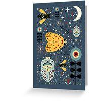Midnight Bugs Greeting Card
