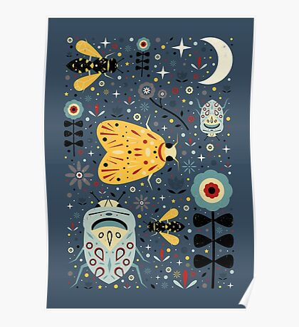 Midnight Bugs Poster