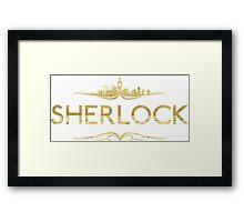 Golden Sherlock Framed Print