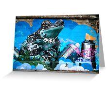 Frog Graffiti, Vienna, Austria Greeting Card