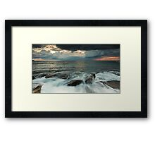 Pink Orange Grey & Green Framed Print