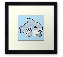 Kawaii Shark Framed Print