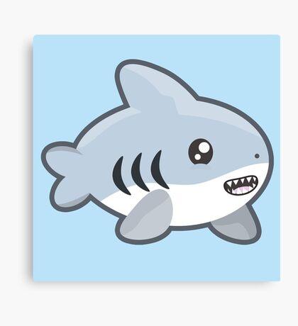 Kawaii Shark Canvas Print