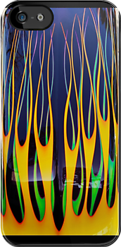 Flames iPhone Case by Ron Hannah