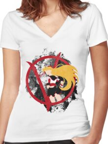 Sailor V for Vendetta Women's Fitted V-Neck T-Shirt