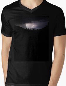 Wollumbin (Mt Warning) Lightning Strike Mens V-Neck T-Shirt
