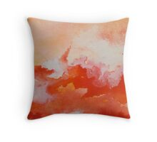 Watercolor Texture Fire and Water Throw Pillow